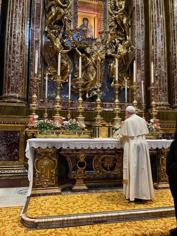 Pèlerinage à Sainte-Marie-Majeure 11 sept. 2021 © Vatican Media