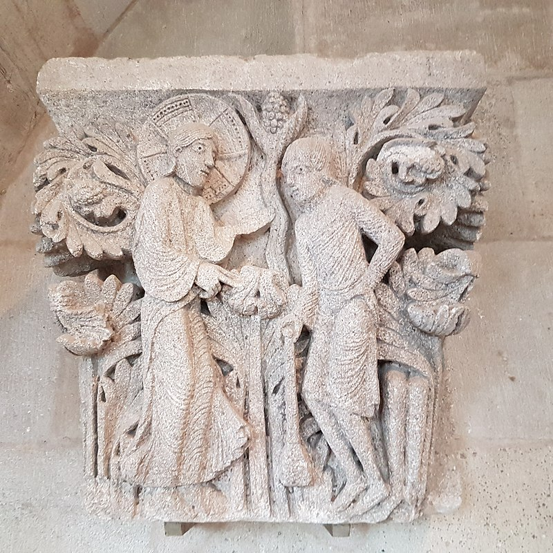 Dieu interrogeant Caïn, Salle capitulaire d'Autun, Wikimedia ©Seudo