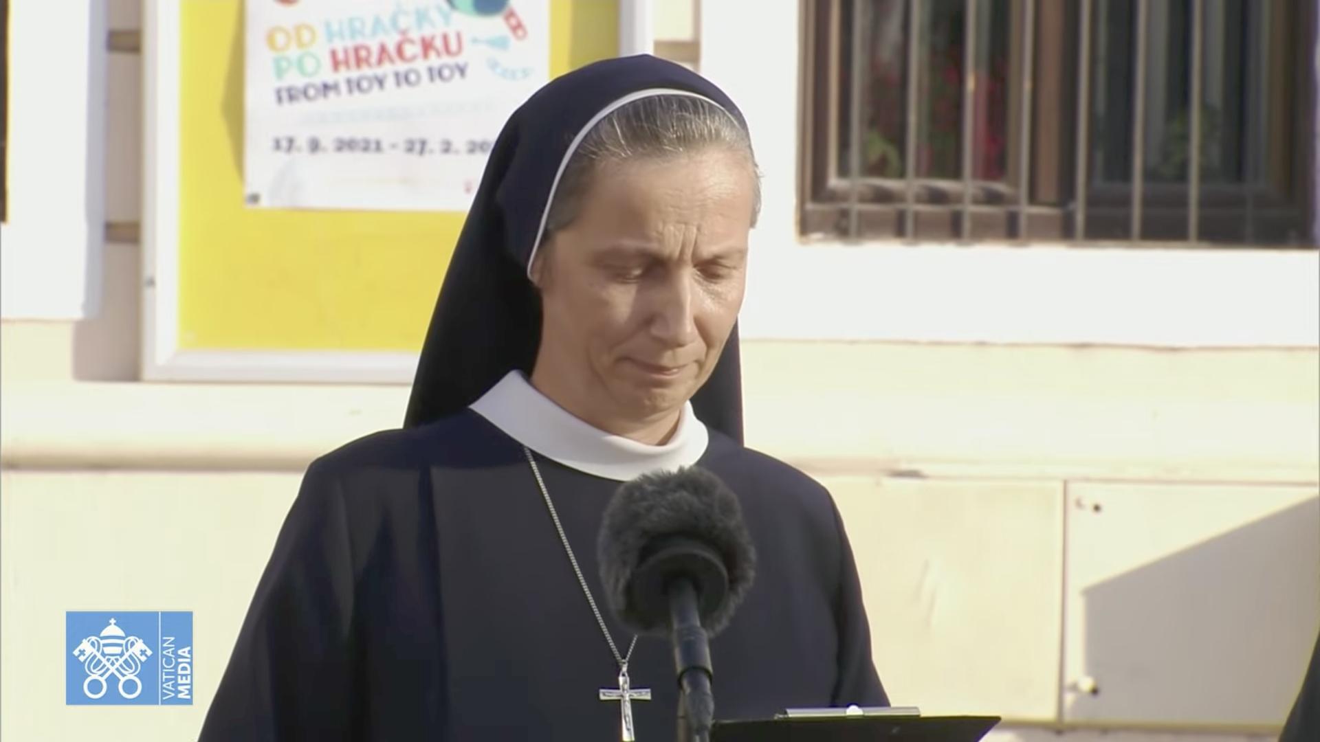 Soeur Samuela, Ursuline © capture Zenit / Vatican Media