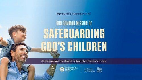 Affiche de la conférence de Varsovie sur la protection des mineurs 2021
