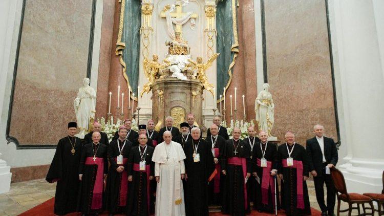 Prière auprès de Notre Dame des Douleurs, Sastin, Slovaquie © Vatican Media