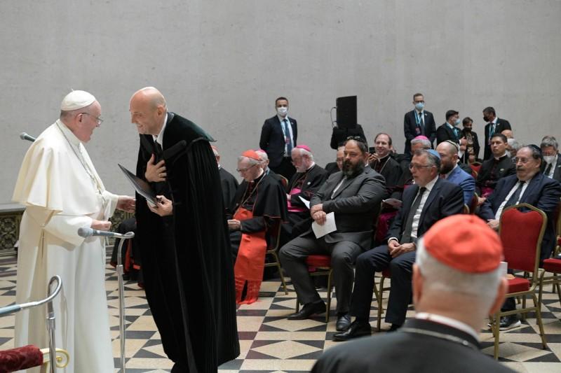 L'évêque calviniste Steinbach, président du COE de Hongrie © Vatican Media