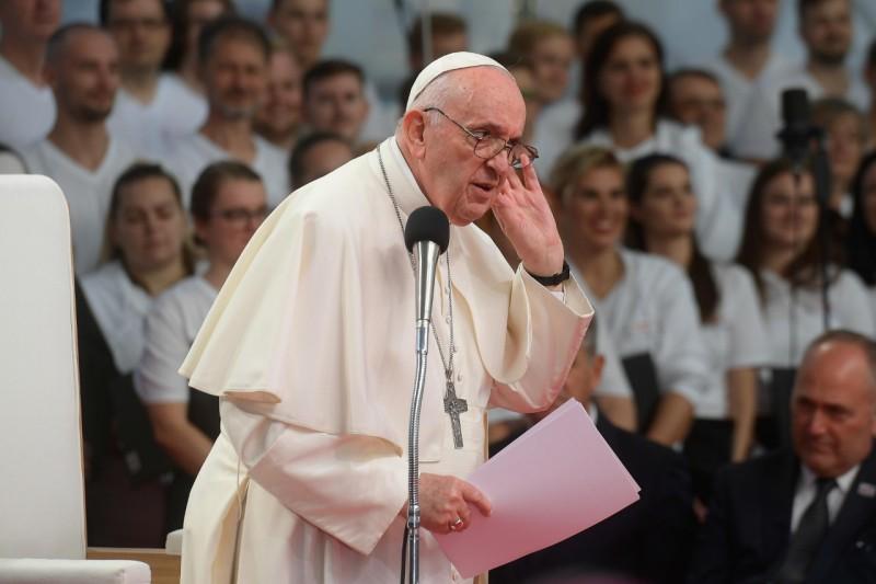 Rencontre avec les jeunes à Kosice © Vatican Media