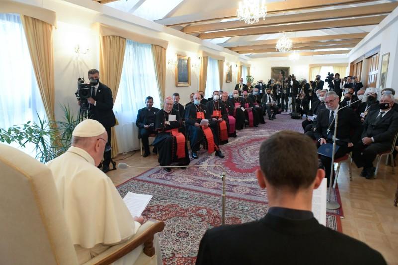 Rencontre oecuménique à Bratislava © Vatican Media