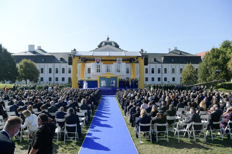 Rencontre avec les autorités politiques de Slovaquie © Vatican Media