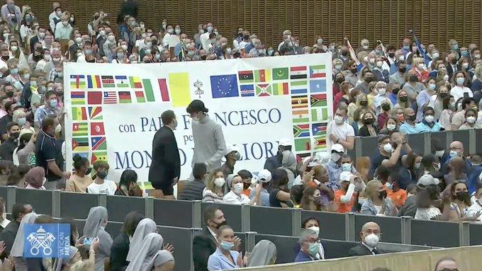"""Centre """"Mondo Migliore"""", 22 sept; 2021 © capture Zenit / Vatican Media"""