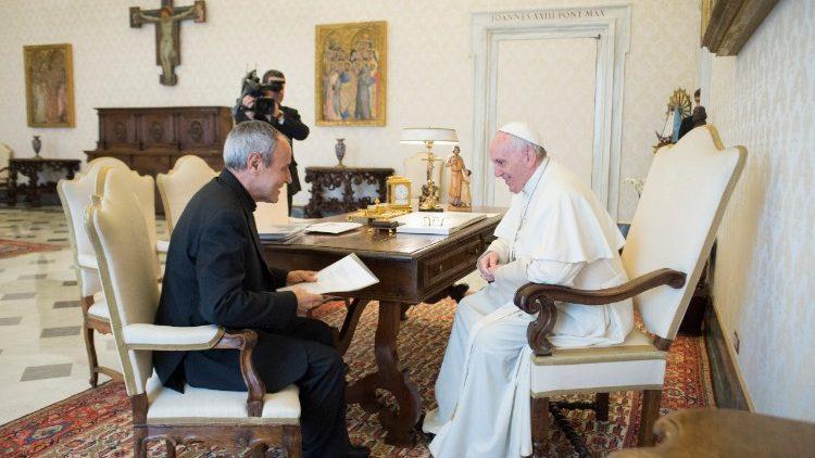 P. Julian Carron, président de Communion et libération, 2 février 2018 © Vatican Media