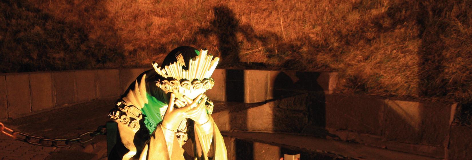 Les larmes de Marie à La Salette © courtoisie du sanctuaire de La Salette