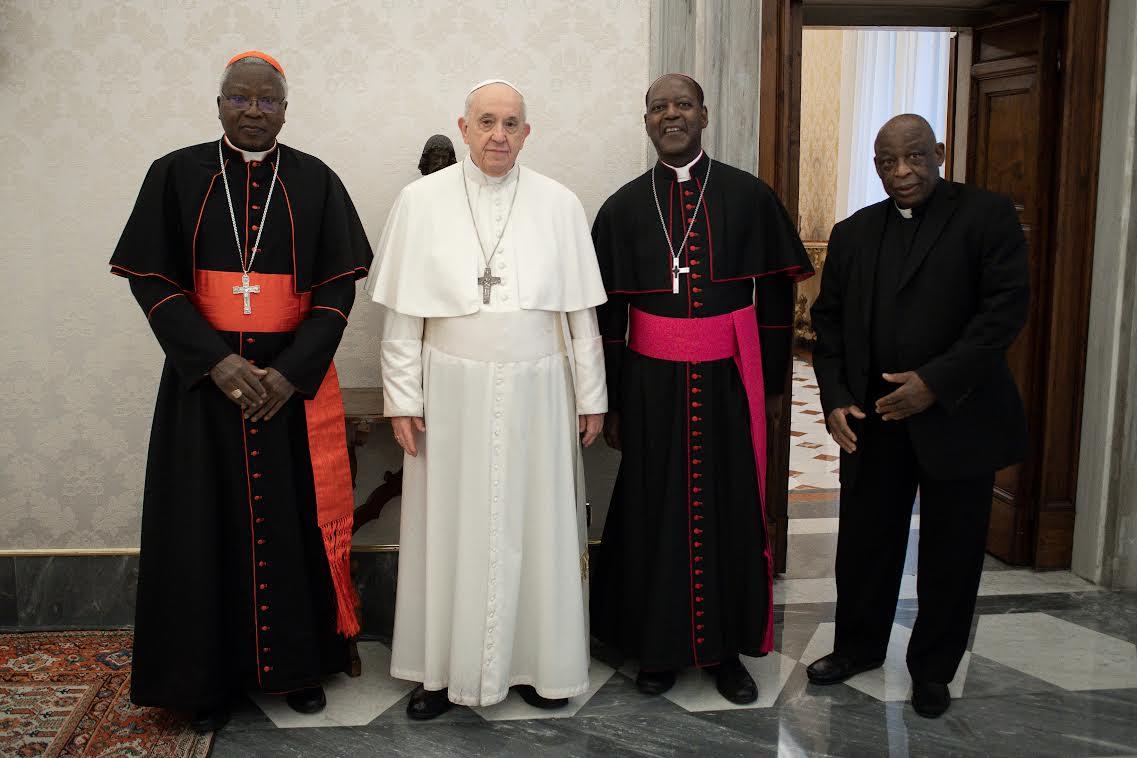 Card. Ouédraogo, Mgr Muandula, Rév. Akaabiam, SCEAM © Vatican Media