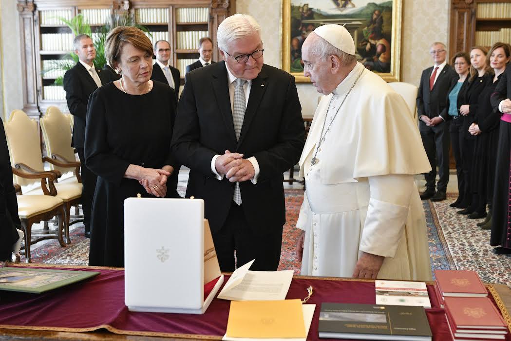 M. Frank-Walter Steinmeier, président allemand © Vatican Media