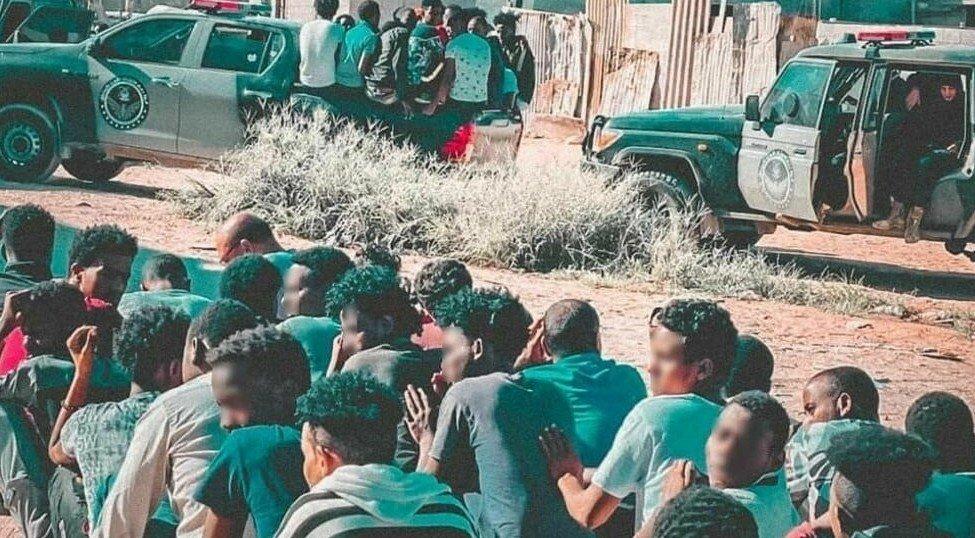 Arrestation de migrants subsahariens, Gargaresh, 1er octobre 2021 © ministère libyen de l'Intérieur