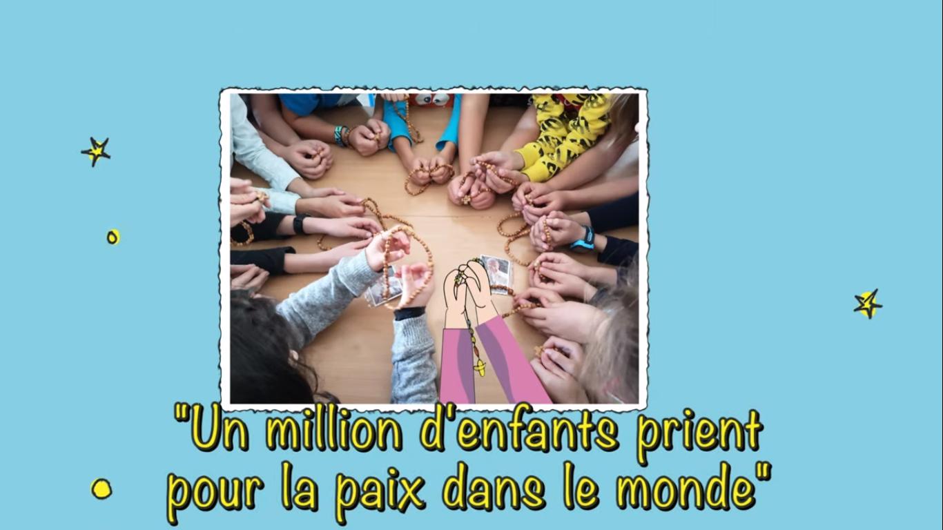 Un million d'enfants prient pour la paix © capture Zenit / AED