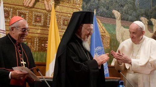 Inauguration de la chaire d'écologie au Latran, en partenariat avec l'UNESCO et le Phanar © Vatican News