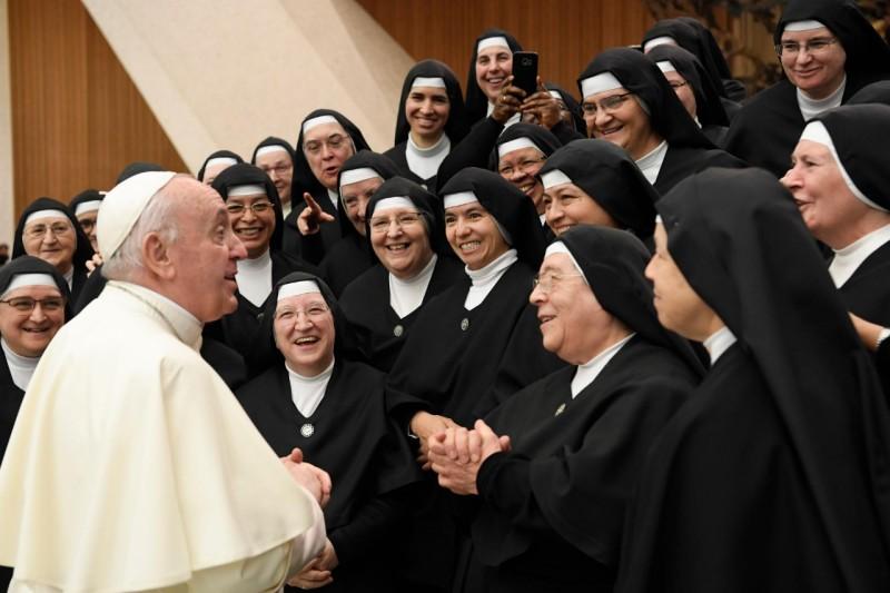"""""""Ministras de los Enfermos"""", audience, 20 oct. 2021 © Vatican Media"""