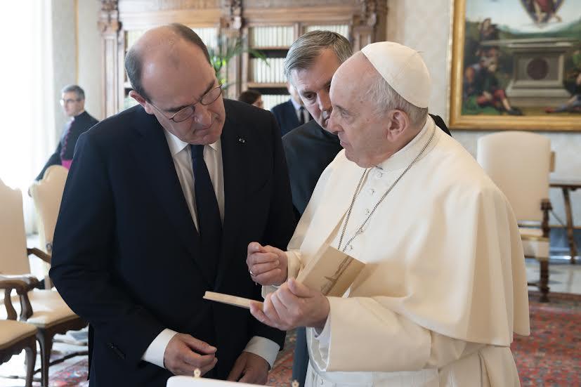 Centenaire de la reprise des relations diplomatiques: le Premier ministre français Jean Castex au Vatican