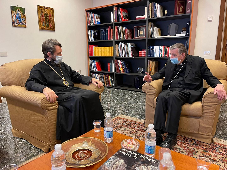 Card. Koch, métropolite Hilarion © Vatican News