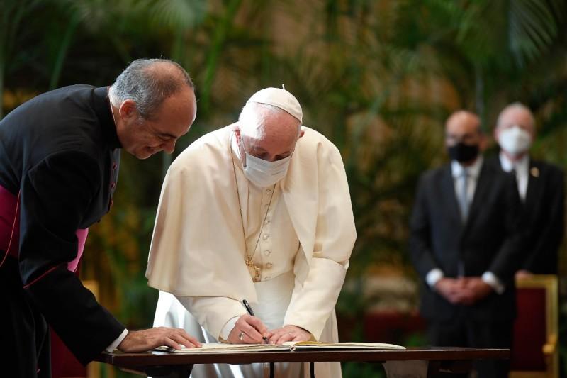 Vers la COP 26, Appel des religions © Vatican Media